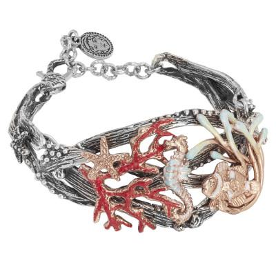 Marina bracelet with marine decoration rose gold plated