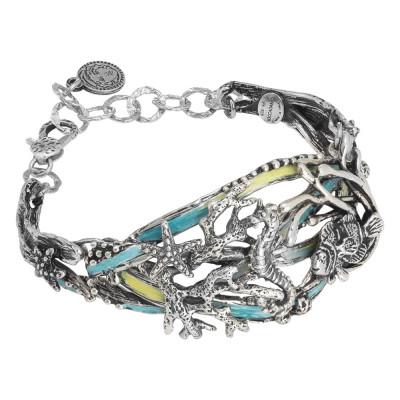 Marina bracelet with hand-painted marine decoration