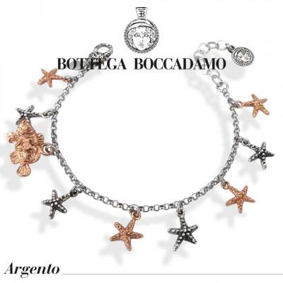 Bracelet with two-tone pendants