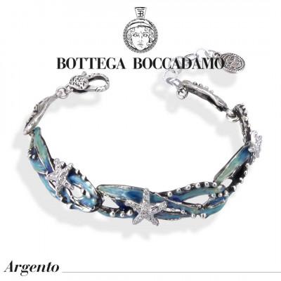 Bracelet with hand-enamelled marine decoration