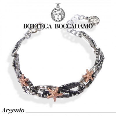 Bracelet with rose gold plated starfish