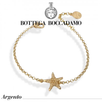Yellow gold plated bracelet with starfish