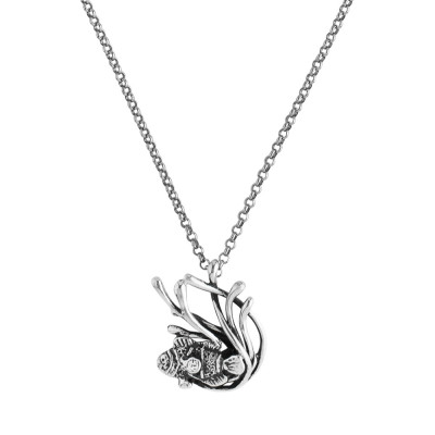 Marina necklace with anemone pendant