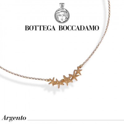 Yellow gold plated necklace with starfish in the center