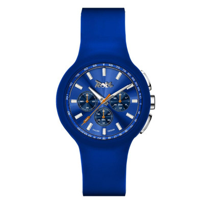 Clock in hypoallergenic silicone cobalt blue and blue counters