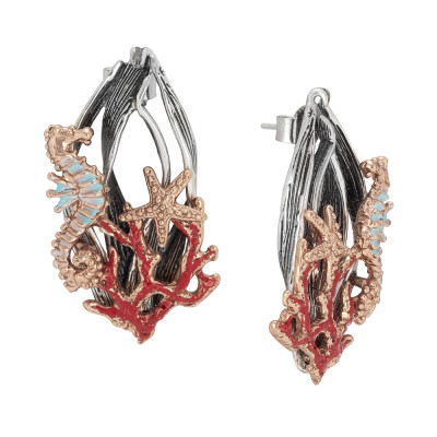 Marina earrings with rose gold plated decoration