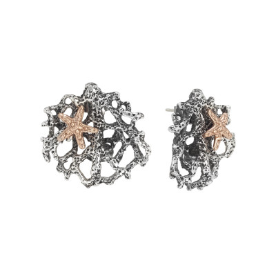 Marina earrings with interweaving of corals