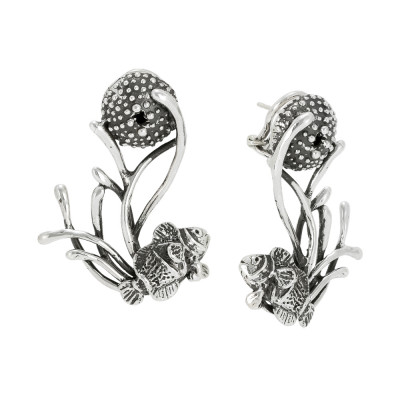 Marina earrings with anemones