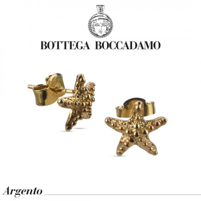 Starfish stud earrings yellow gold plated