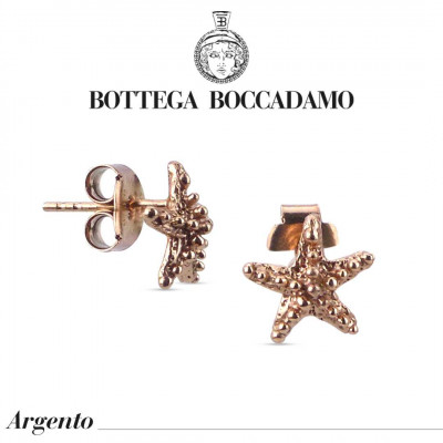 Starfish stud earrings rose gold plated