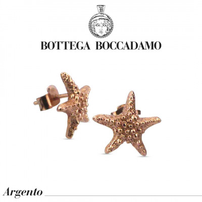 Rose gold plated starfish stud earrings