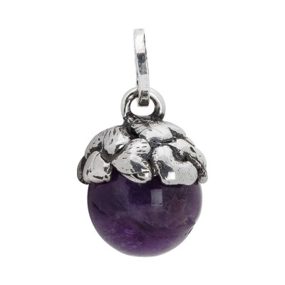 Charm with a cup of hearts and amethyst