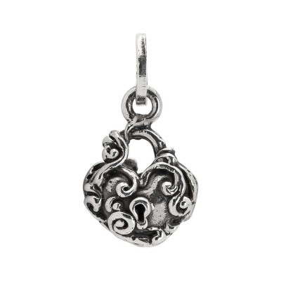 Charm with heart and baroque decor