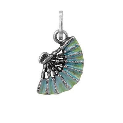 Charm blue fan