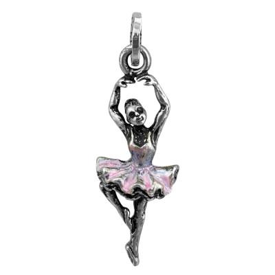 Painted ballerina charm