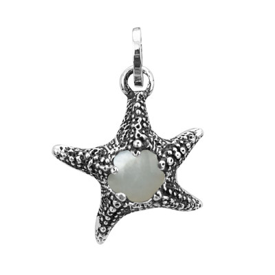 Starfish charm with mother of pearl