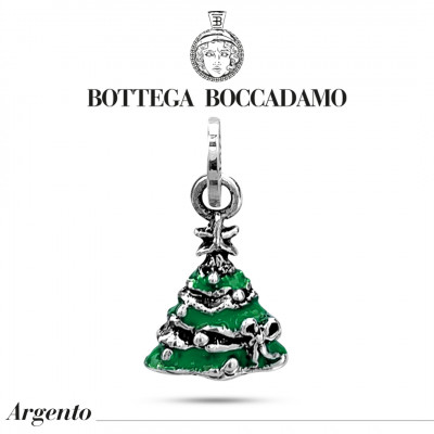 Green Christmas tree charm