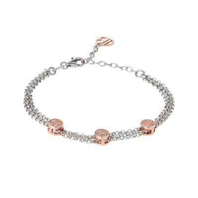Multiwire Bracelet bicolor with zircons