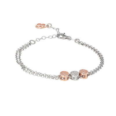 Multiwire Bracelet with central decorations in zircons