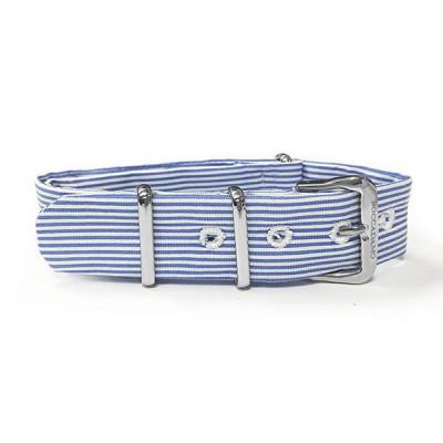 Sartorial strap to narrow rows blue