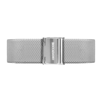 Cinturino in acciaio maglia Milano silver
