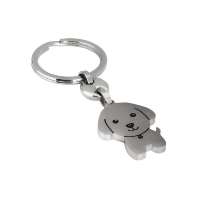 Satin keyring with puppy dog