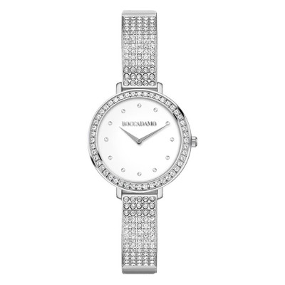 Wristwatch woman with strap silver and Swarovski