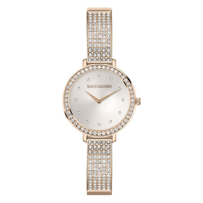 Wristwatch woman with strap rosato and Swarovski