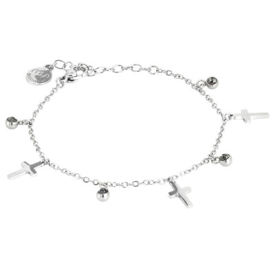 Bracelet with black diamond crystals and crosses