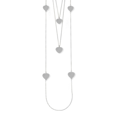 Three-wire necklace with hearts