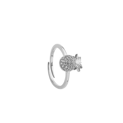 Ring with cubic zirconia pineapple
