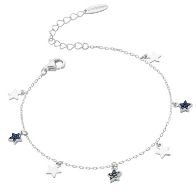 Bracelet with smooth stars and cubic zirconia