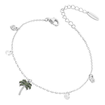 Bracelet with cubic zirconia palm