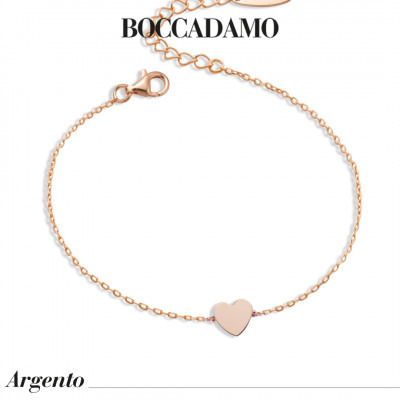 Rose gold plated bracelet with central heart