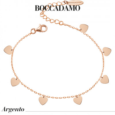 Rose gold plated bracelet with hearts