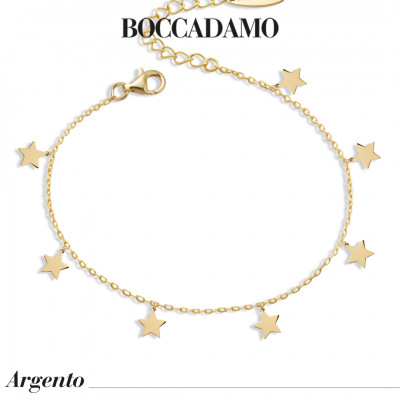 Yellow gold plated bracelet with stars