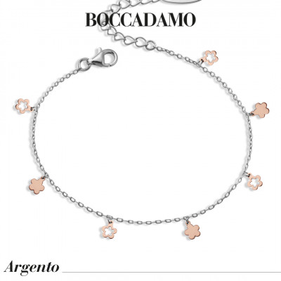Two-tone bracelet with flowers