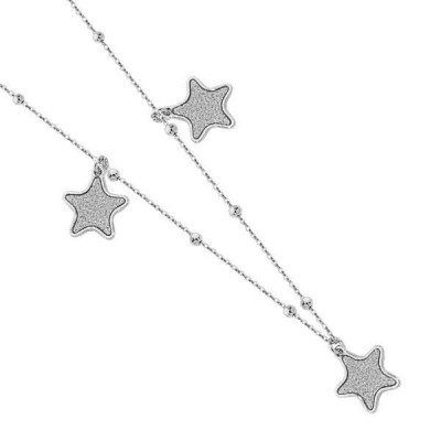 Necklace with stars glitterate