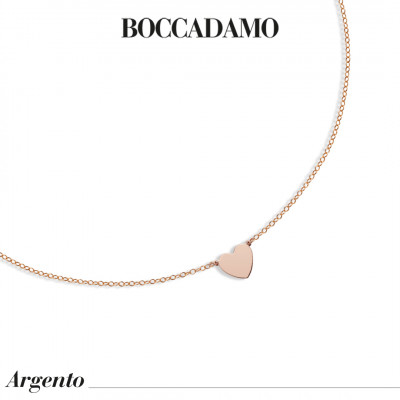 Rose gold plated necklace with central heart