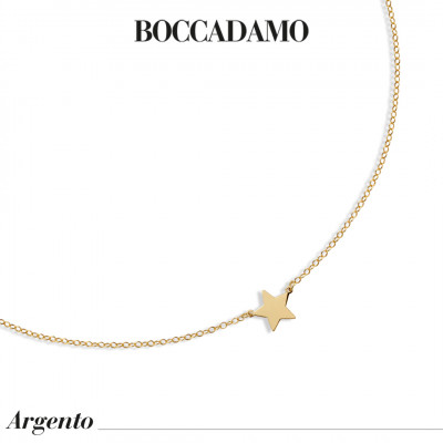 Yellow gold plated necklace with central star