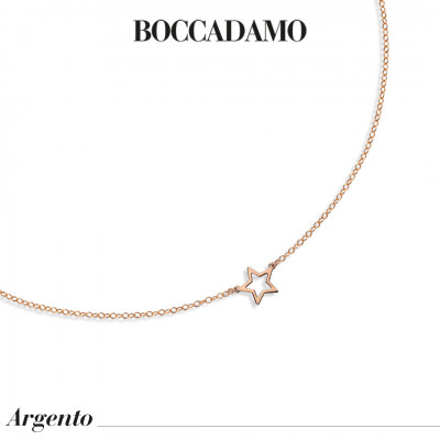 Necklace with perforated star