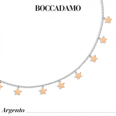 Two-tone necklace with stars