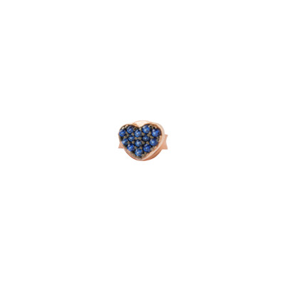 Heavenly cubic zirconia heart earring