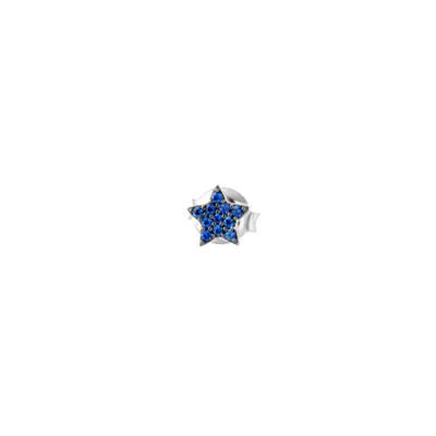 Star earring in celestial zircons