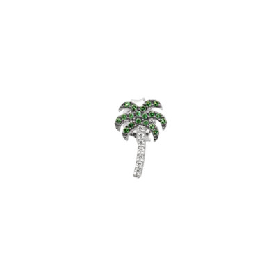 Earring with cubic zirconia palm