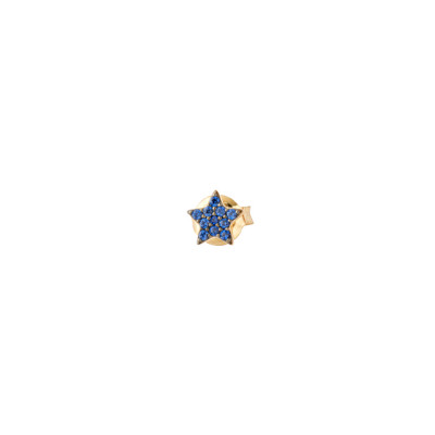 Lobe earring with celestial zirconia star