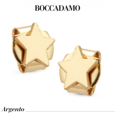 Star yellow gold plated earrings