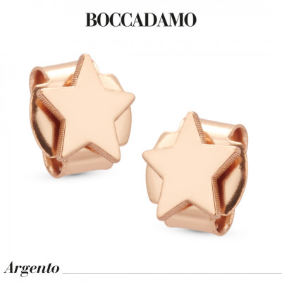 Star rose gold plated earrings