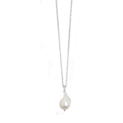 Long necklace with natural pendant