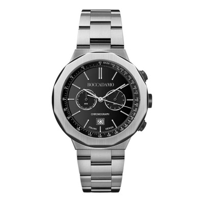 Chronograph watch with black dial